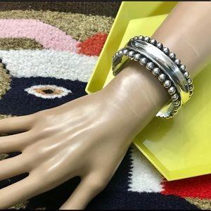 💖 VTG Heavy Sterling Bracelet w/Silver Beads!